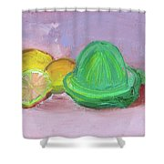 Citrus Squeezer Shower Curtain