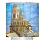 Citta Alta From Above Shower Curtain by Jeff Kolker