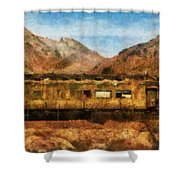 City - Arizona - Desert Train Shower Curtain