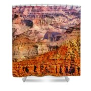 City - Arizona - Grand Canyon - Kabob Trail Shower Curtain