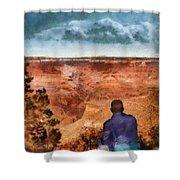 City - Arizona - Grand Canyon - The Vista Shower Curtain by Mike Savad