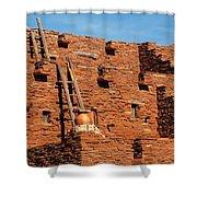 City - Arizona - Pueblo Shower Curtain
