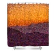 City - Arizona - Rolling Hills Shower Curtain