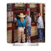 City - Lancaster Pa - The Train Station Shower Curtain