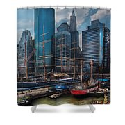 City - Ny - The New City Shower Curtain