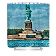 City - Ny - The Statue Of Liberty Shower Curtain