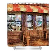 City - Ny 77 Water Street - Candy Store Shower Curtain