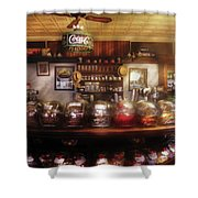 City - Ny 77 Water Street - The Candy Store Shower Curtain