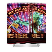 City - Vegas - Ny - The Bar At Times Square Shower Curtain