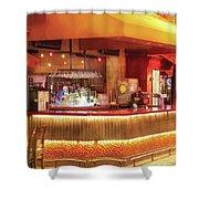 City - Vegas - Ny - The City Bar Shower Curtain