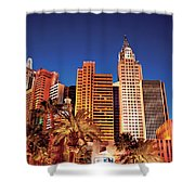 City - Vegas - Ny - The New York Hotel Shower Curtain