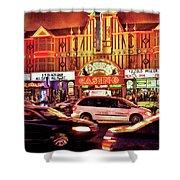 City - Vegas - O'sheas Casino Shower Curtain