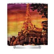 City - Vegas - Paris - The Paris Hotel Shower Curtain