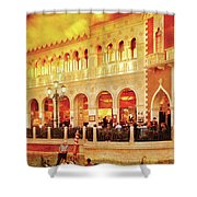City - Vegas - Venetian - Life At The Palazzo Shower Curtain