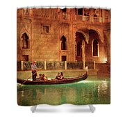 City - Vegas - Venetian - The Gondola's Of Venice Shower Curtain