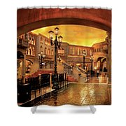 City - Vegas - Venetian - The Streets Of Venice Shower Curtain