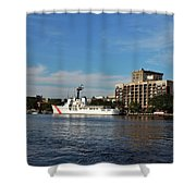 City Across The River Shower Curtain