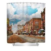 City - Arkansas - Main St 1925 Shower Curtain