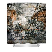 City-art Amsterdam Bicycles  Shower Curtain