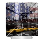 City-art Nyc Composing Shower Curtain