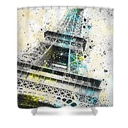 City-art Paris Eiffel Tower Iv Shower Curtain