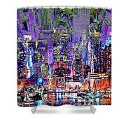 City Art Syncopation Cityscape Shower Curtain