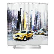 City-art Times Square II Shower Curtain