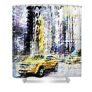 City-art Times Square Streetscene Shower Curtain