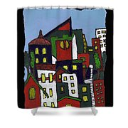 City At Christmas Shower Curtain