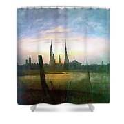 City At Moonrise Shower Curtain
