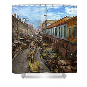 City - Baltimore Md - Traffic On Light Street - 1906 Shower Curtain