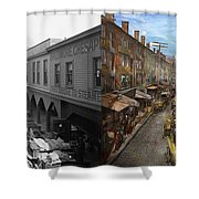 City - Baltimore Md - Traffic On Light Street - 1906 - Side By Side Shower Curtain