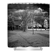 City Beach In Infrared Shower Curtain