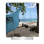 City Beach Shower Curtain