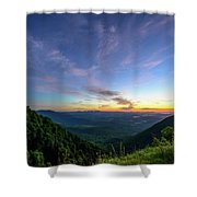 City Below The Mountains Shower Curtain