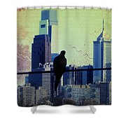 City Bird Shower Curtain