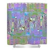 City Blox Light Shower Curtain
