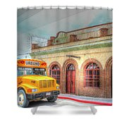 City Bus Shower Curtain