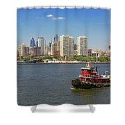 City - Camden Nj - The City Of Philadelphia Shower Curtain