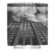 City Canyon Black And White Shower Curtain