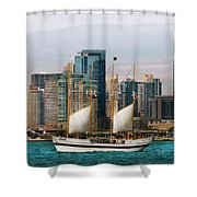 City - Chicago - Cruising In Chicago Shower Curtain