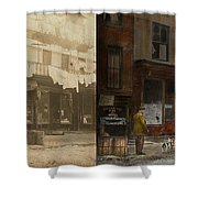 City - Elegant Apartments - 1912 - Side By Side Shower Curtain