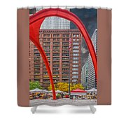 City Flamingo Shower Curtain