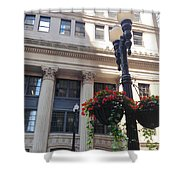 City Flowers Shower Curtain