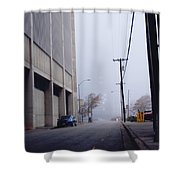 City Fog Shower Curtain
