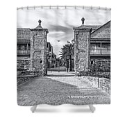City Gates Black And White 2018 Shower Curtain