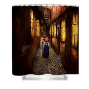 City - Germany - Alley - A Long Hard Life 1904 Shower Curtain