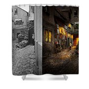 City - Germany - Alley - Coming Home Late 1904 - Side By Side Shower Curtain