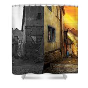 City - Germany - Alley - The Farmers Wife 1904 - Side By Side Shower Curtain