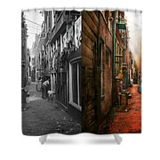 City - Germany - Alley - The Other Half 1904 - Side By Side Shower Curtain